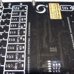 detail plošného spoja – časť ovládania ventilov