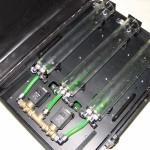 model sústavy uložený v kufríku