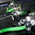 detail napojenia hadíc a tlakového snímača